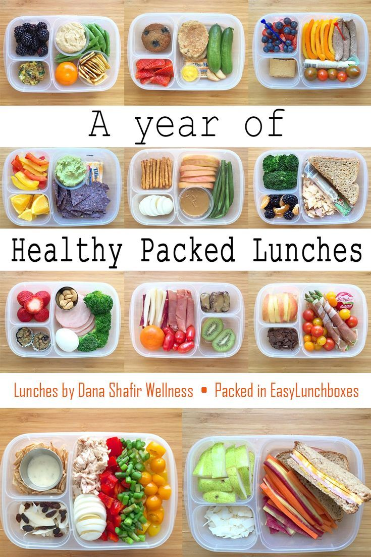 a year of healthy packed lunches in easylunchboxes | lunchbox ideas