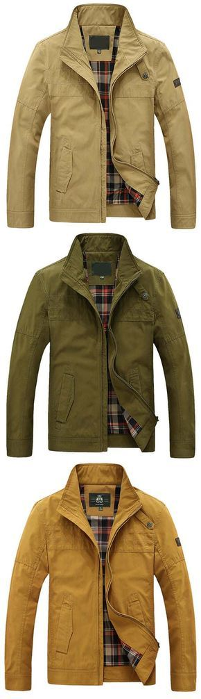 f7acec4abc911 AFSJEEP Military Plus Size Casual Outdoor Solid Color Flight Jacket for Men.  Skull
