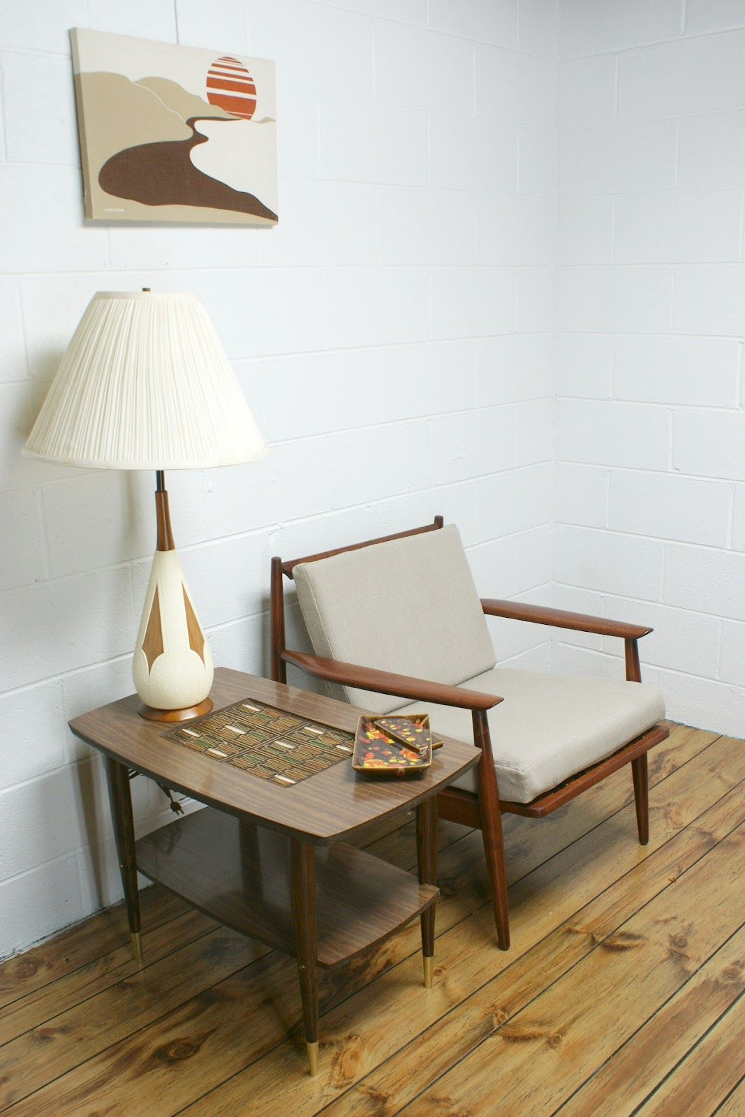Vintage 60s decor vintage 50s 60s mid century modern eames era mad men side end table
