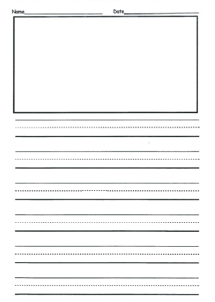 Free 2nd Grade Writing Template This is front back and they