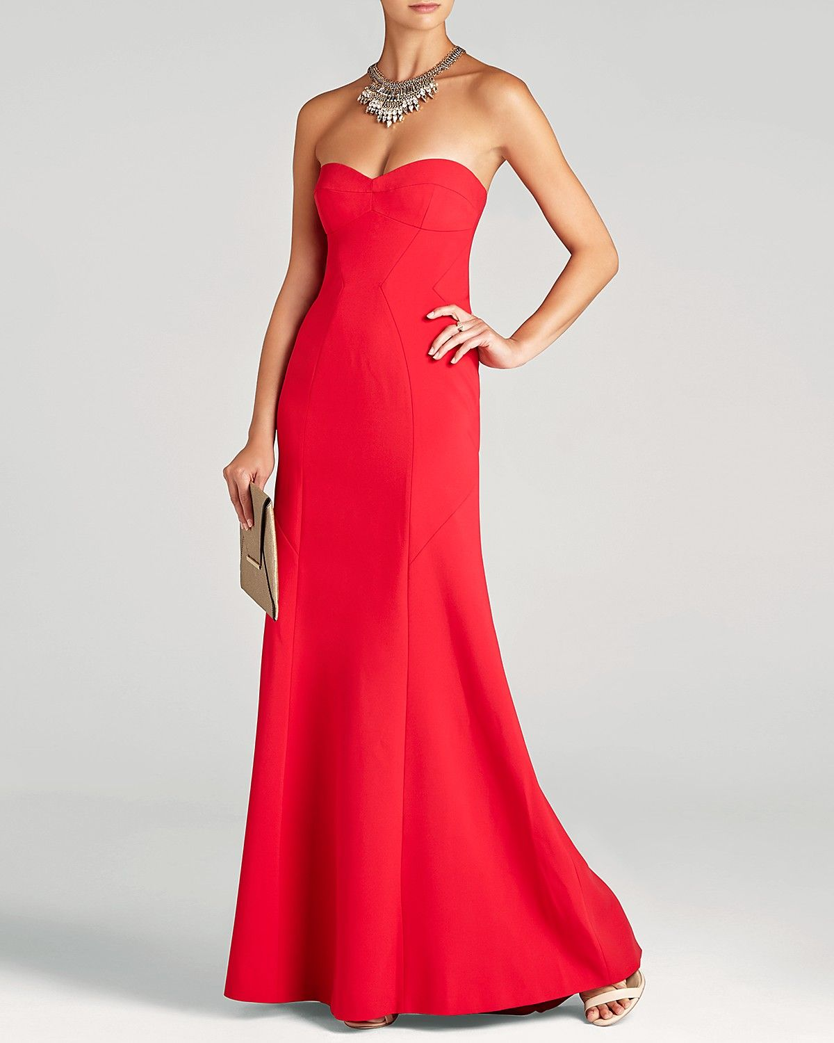 Bcbgmaxazria Surrey Strapless Gown Bloomingdale S Exclusive Women Dresses Bloomingdale S Red Evening Dress Gowns Dresses [ 1500 x 1200 Pixel ]
