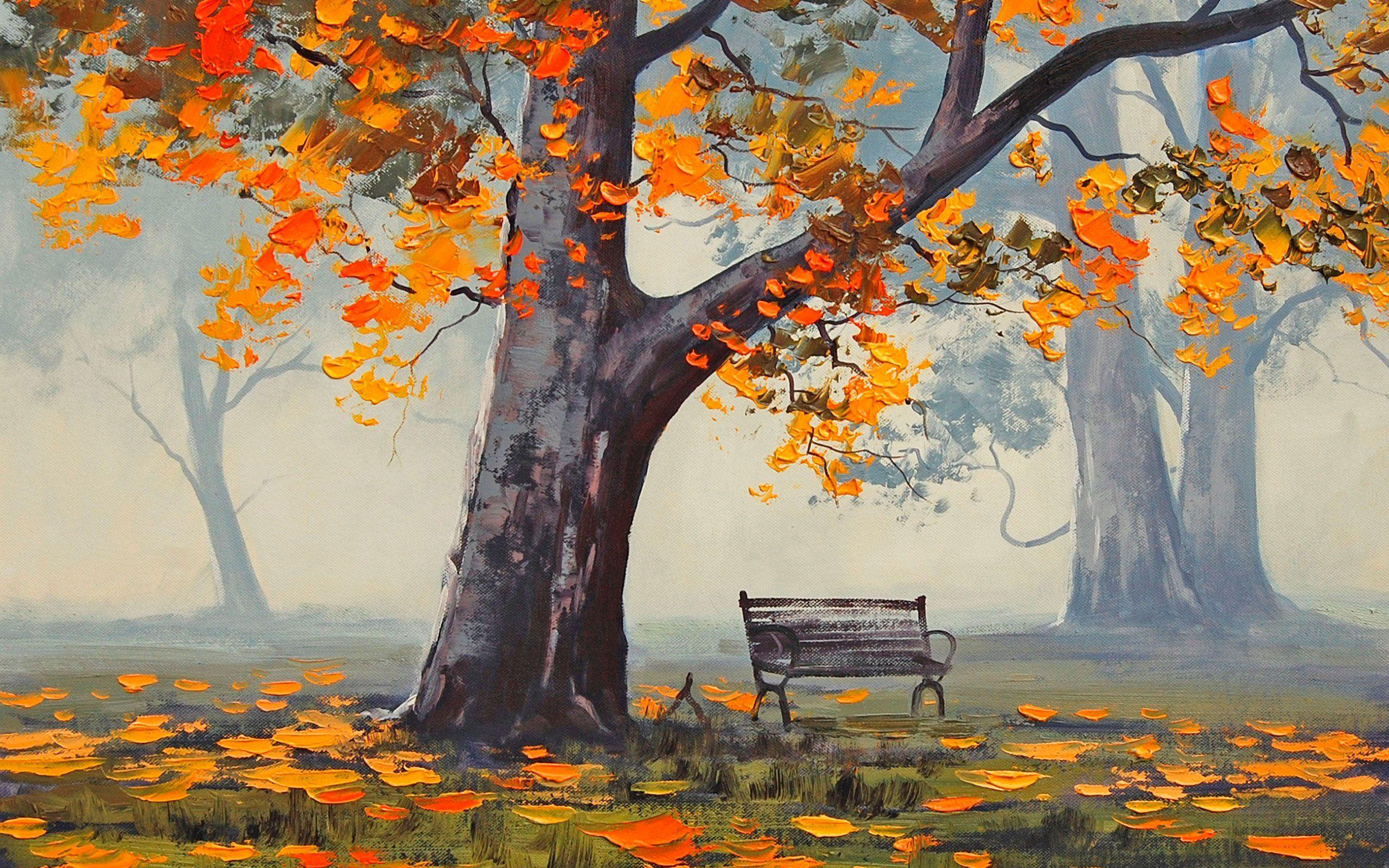 Осень картинки нарисованные, девушка фото