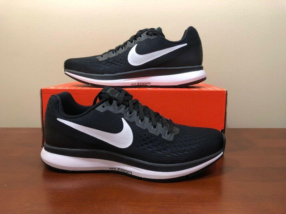 27282017ec0 Womens Nike Air Zoom Pegasus 34 Running Shoes Size 6.5 Black White 880560  001 - Nike
