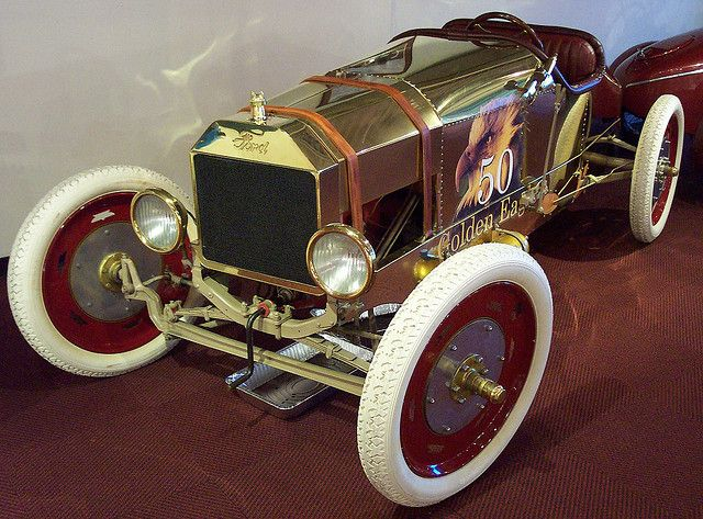 Brass Model T Ford racer