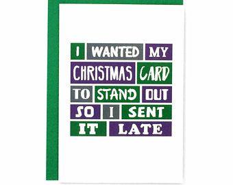 Funny christmas card late christmas card belated christmas funny christmas card late christmas card belated christmas sorry its late cheeky m4hsunfo