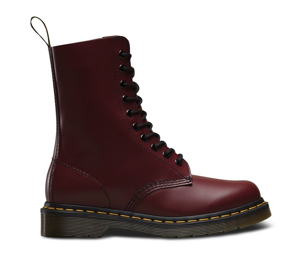 Dr.Martens Women's 1490 Boots Smooth Cherry Red - Dr Martens #docs # drmartens