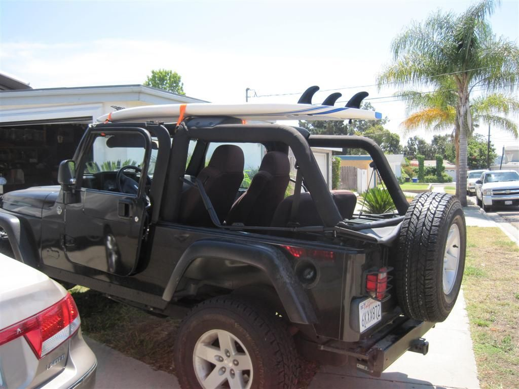 Great Surfboard Rack For Jeep Wrangler Soft Top Jeep Wrangler