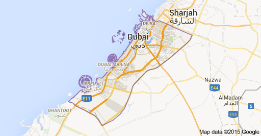 Map of Dubai - Emiratos Árabes Unidos