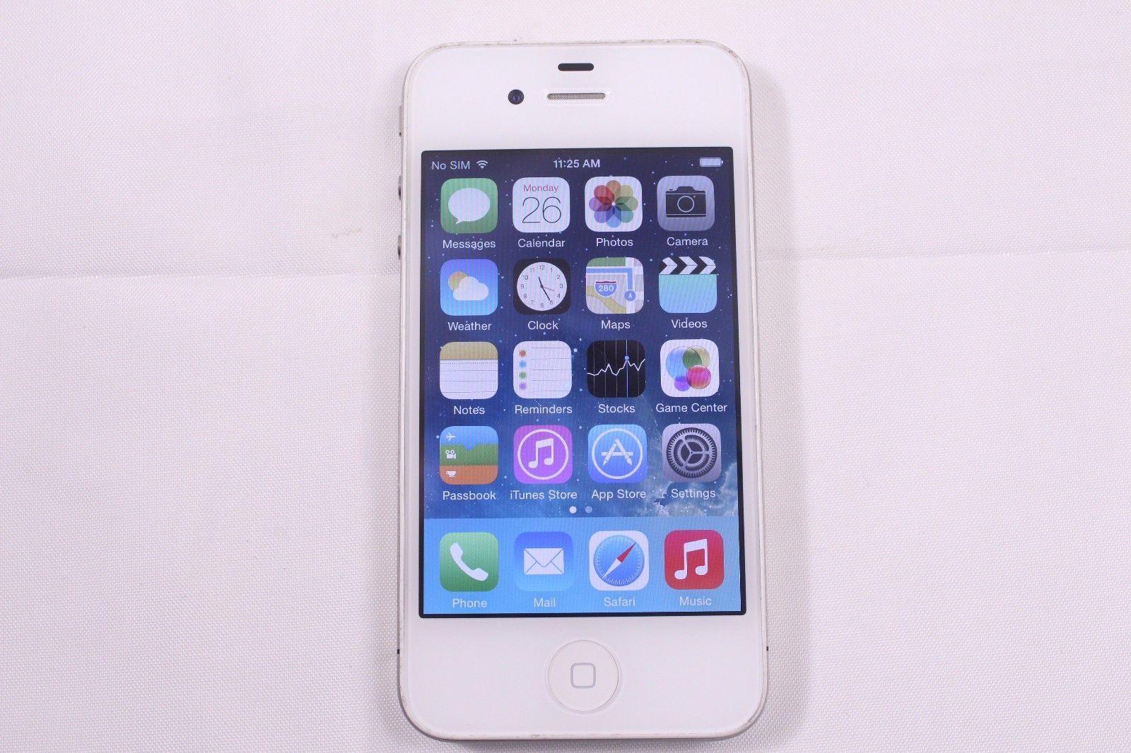 Apple iPhone 4 32GB AT&T White Clean ESN Fair (1E18