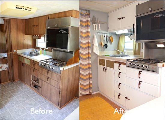 vintage camper turned glamper diy renovation caravane pinterest campeur caravane et camping. Black Bedroom Furniture Sets. Home Design Ideas