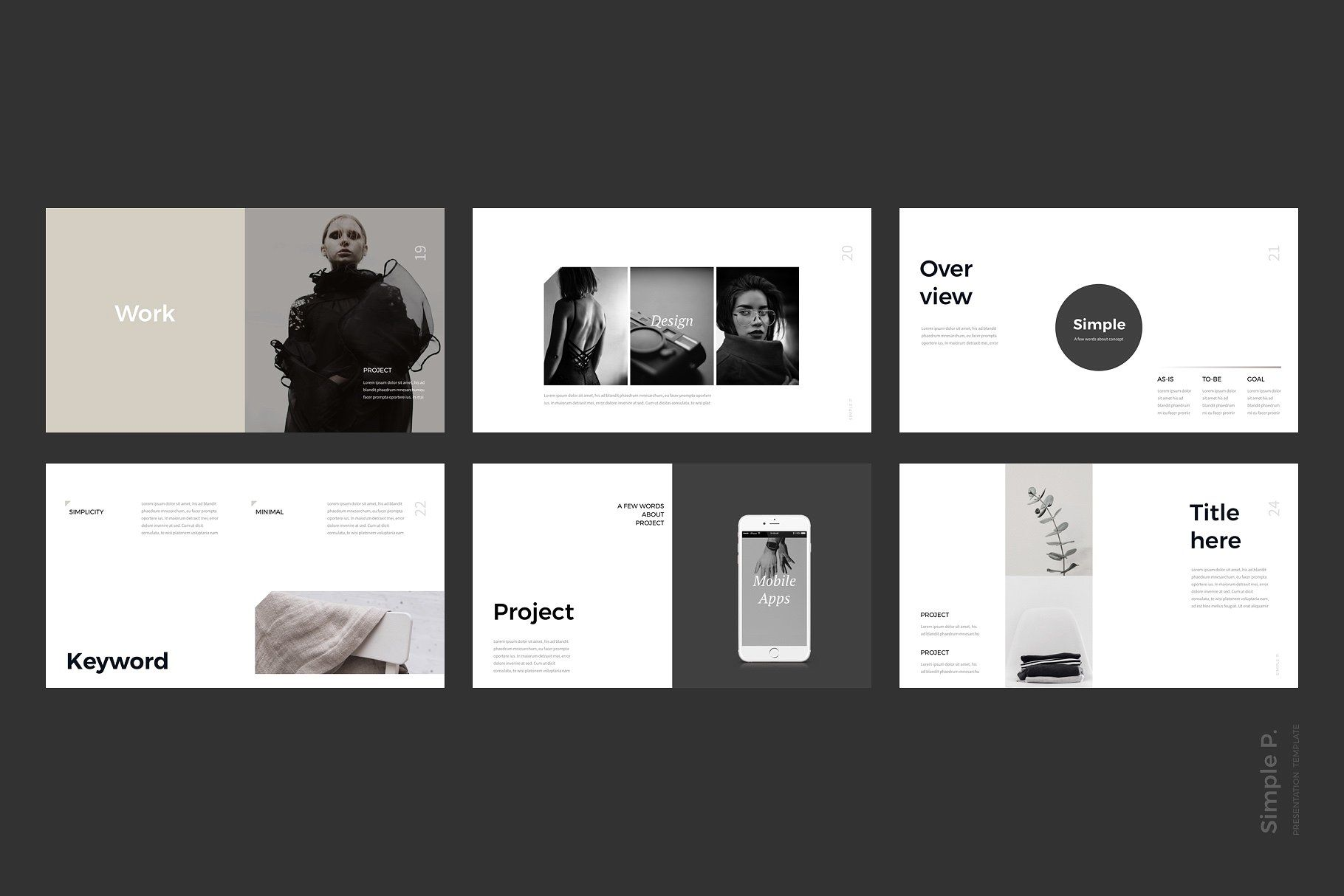 simple p powerpoint template is a clear presentation to show your
