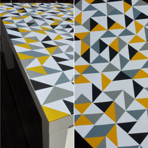 Customiser table ikea lack avec des stickers triangles04 Stickers ikea meuble