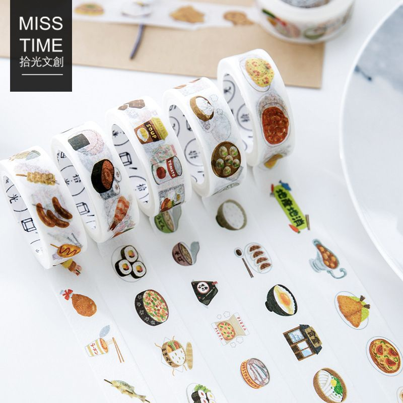 Cute Food Fruit Stamps Washi Tape Diy Decoration Scrapbooking Sticker Masking Tape Adhesive Tape Stationery 15mm*7m And To Have A Long Life. Tapes, Adhesives & Fasteners Office Adhesive Tape