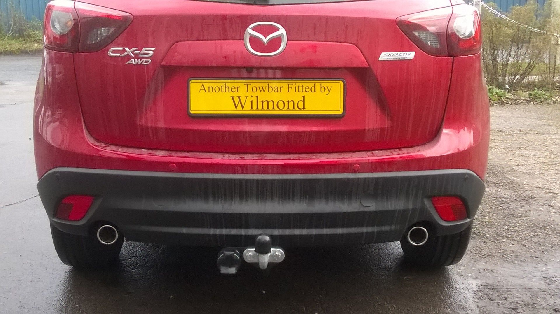Mazda CX5 with Witter swan neck towbar