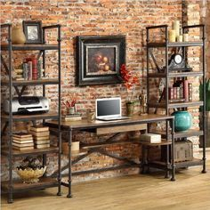 rustic office decor. krisztina williams get the look rustic industrial home decor office f