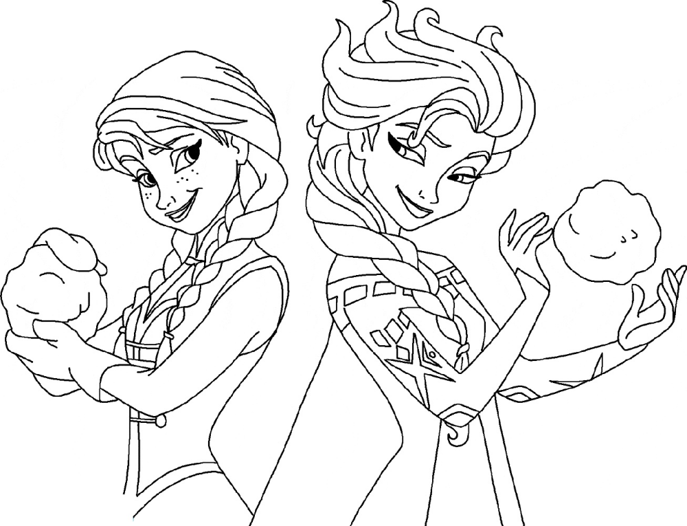 Elsa And Anna Coloring Pages Elsa Coloring Pages Disney