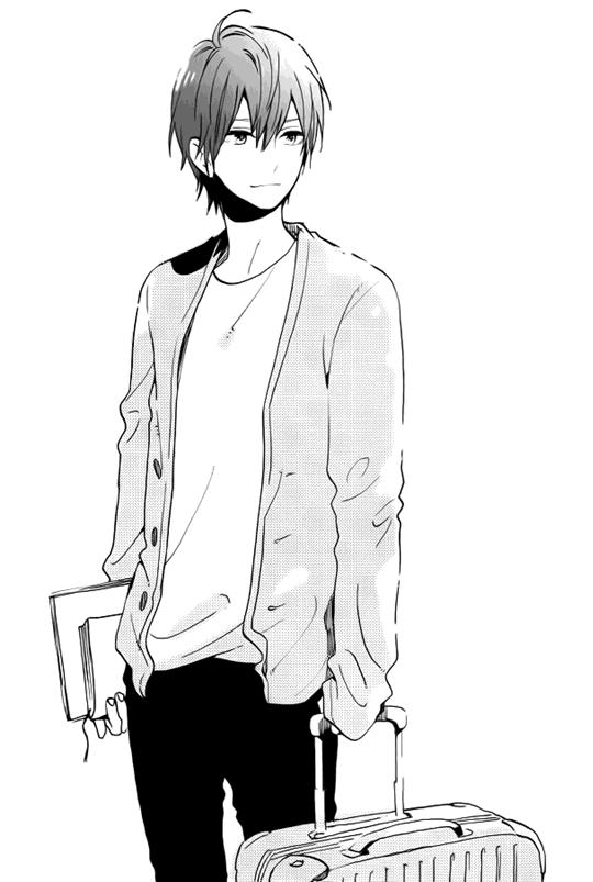 Anime Guy Black And White Art Casual Suitcase Anime Anime Guys Manga Boy