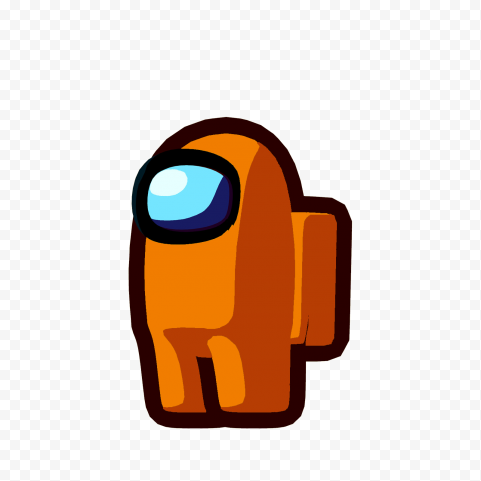 Hd Orange Among Us Character Png Citypng Orange Character Png