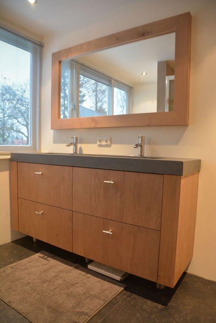 Houten spiegel badkamer google zoeken badkamer pinterest spiegel badkamer houten - Houten meubels voor badkamers ...