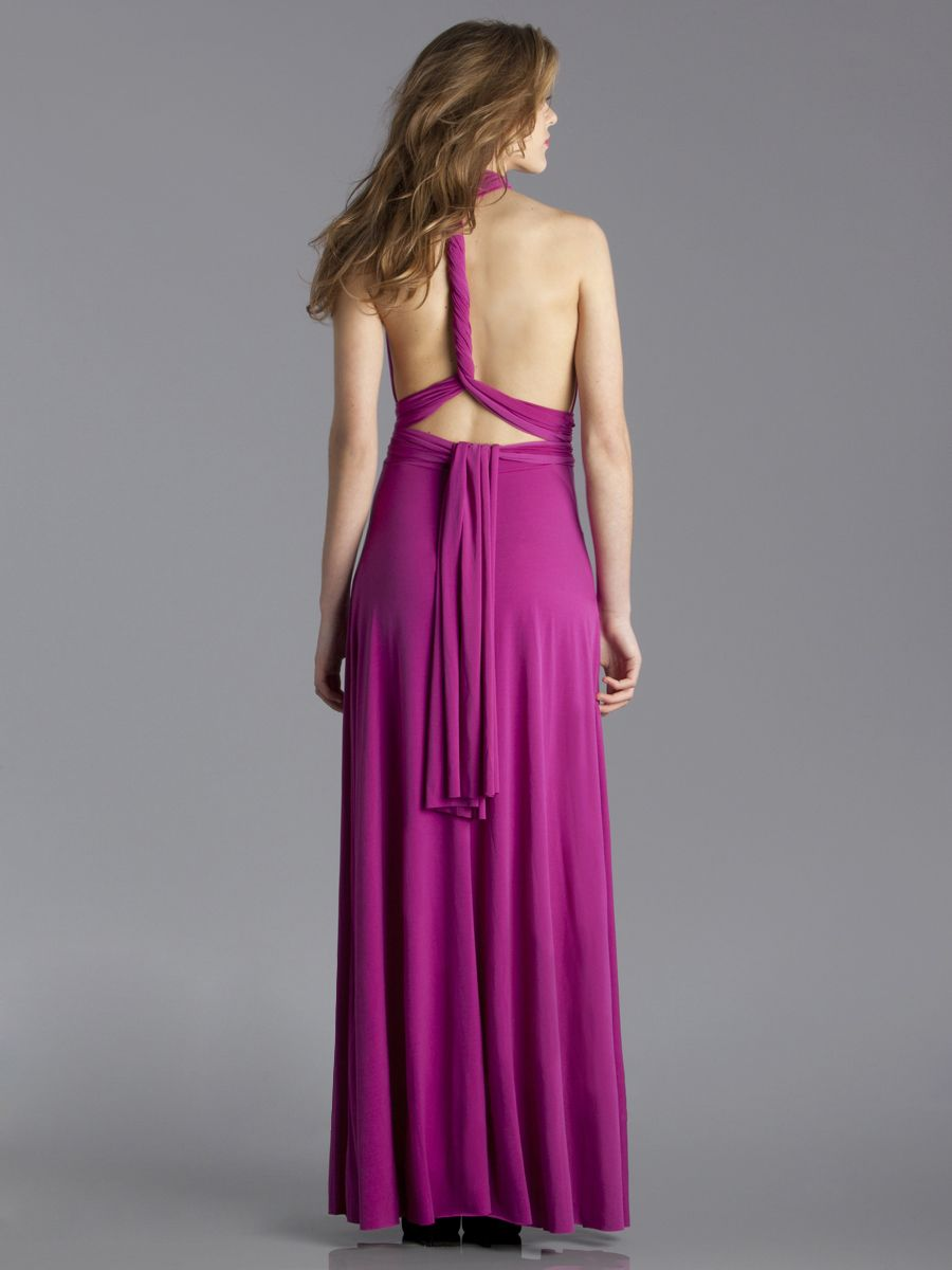 New Color! Von Vonni Long Tansformer Dress in Magenta- view from the ...
