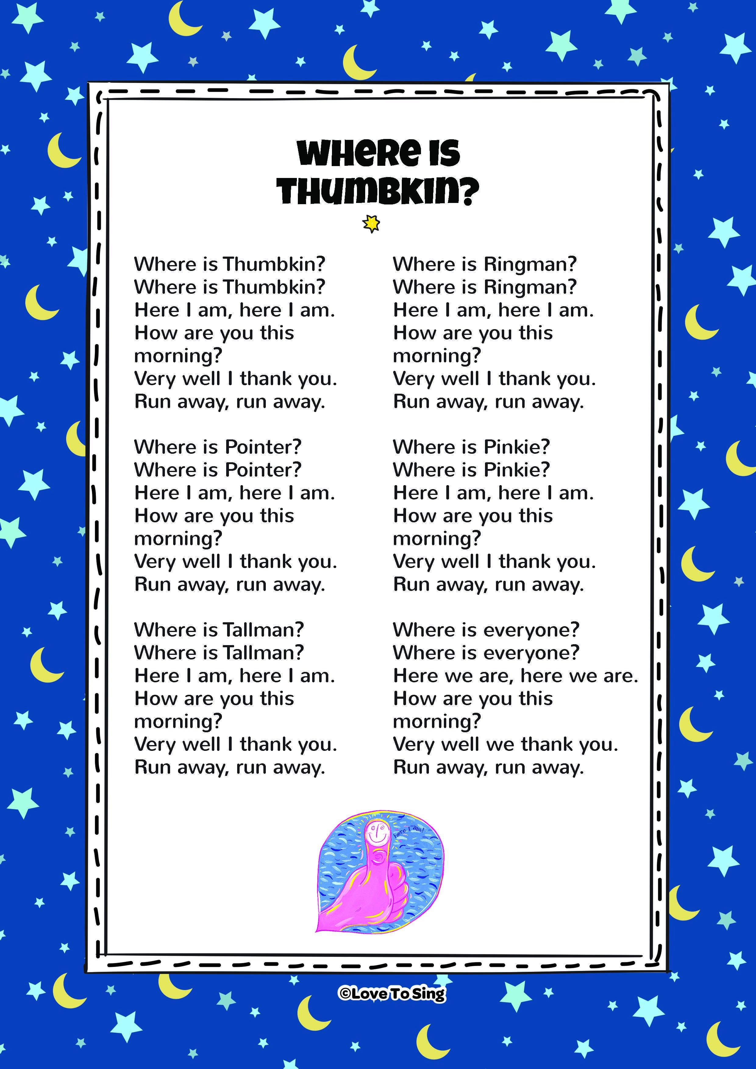 Where Is Thumbkin Nursery Rhyme Kids Will Love This Fun