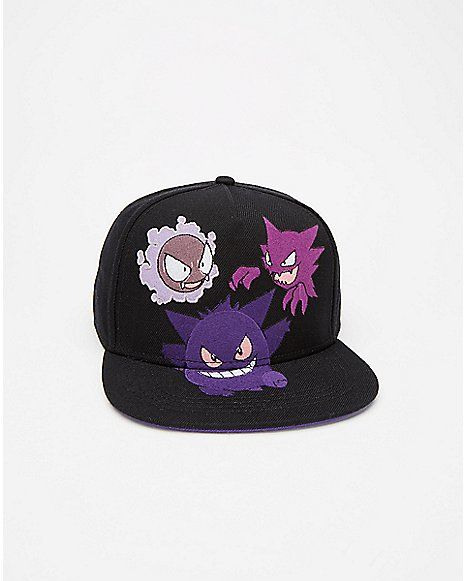 Pokemon Three Gengar Snapback Hat - Spencer s  63b629ccb53