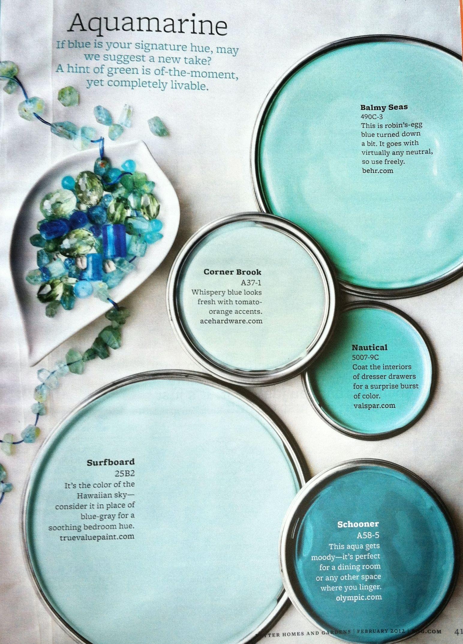 Master bedroom green paint ideas  aquamarine blues Surfboard paint  Projects  Pinterest