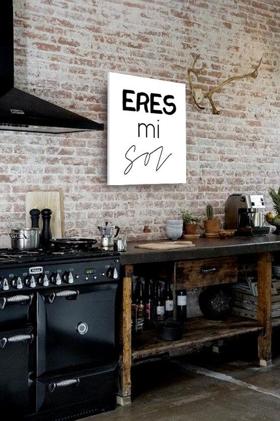 Kitchen Contrasts   Bare Brick And Black   Railway House By Jeroen Van  Zwetselaar . Sans Antlers For Me.