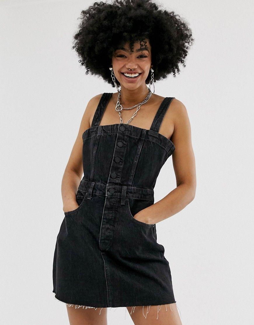 Cheap Monday Potion Denim Dress Black Cheapmonday Cloth Denim Dress Cheap Monday Denim Dress Style [ 1110 x 870 Pixel ]
