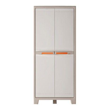 Armoire résine 4 tablettes SPACEO Premium, l80xH182xP44cm Idées à - armoire ikea porte coulissante