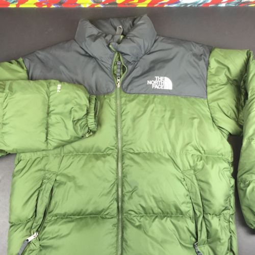 6e9593bfd36d The-North-Face-700-Fill-Down-Puffer-Coat-Mens-XL-Jacket-Nuptse-Olive-black
