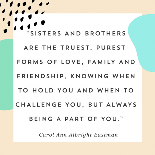 Siblings Quotes 13 Quotes That Will Make You Say A on National Siblings Day via  Siblings Quotes