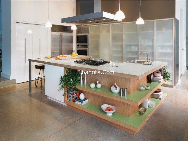 ديكورات مطابخ مفتوحة بسيطة تصميم مطابخ مفتوحة Contemporary Kitchen Island Contemporary Kitchen Laminate Worktop