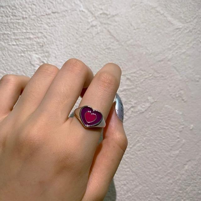 Brand Name: UETEEYOrigin: CN(Origin)Metals Type: Zinc AlloyGender: WomenMaterial: MetalStyle: Cute/RomanticShape\pattern: HeartModel Number: R090Fine or Fashion: FashionOccasion: partyItem Type: Rings