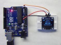 Ein 0,96 Zoll OLED Display I²C mit 128x64 Pixel und ein Arduino