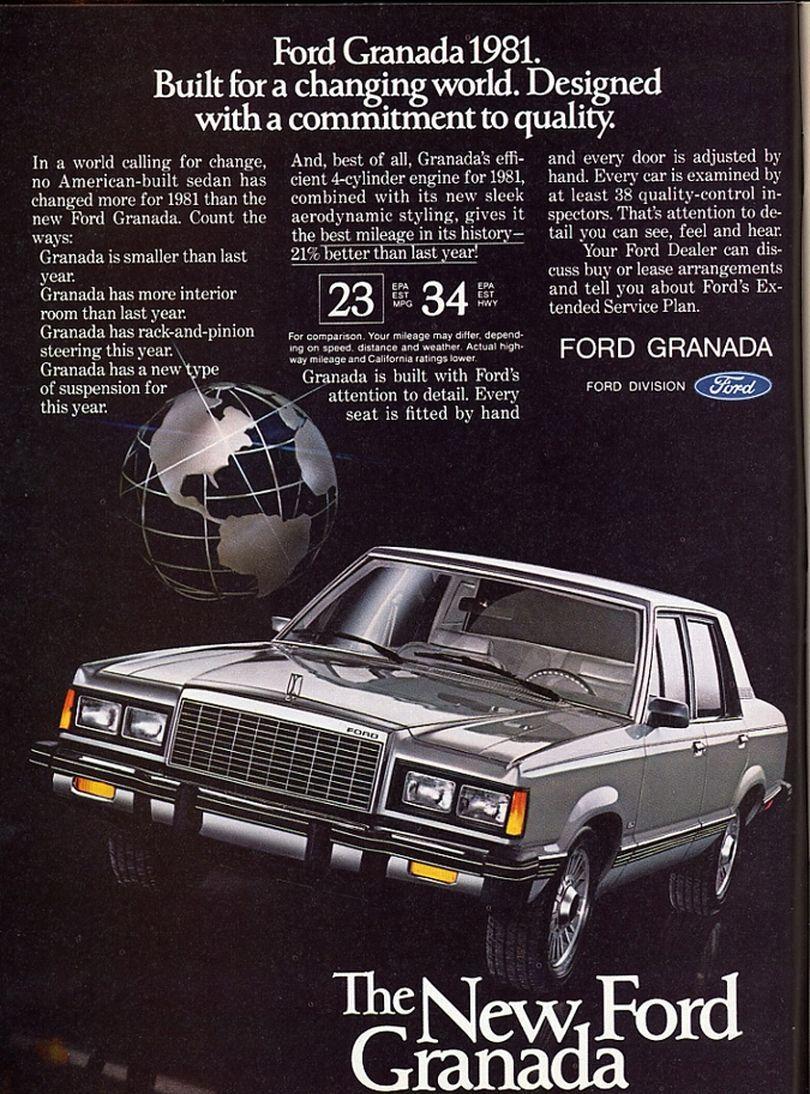 1981 Ford Granada Car Advertising Classic Cars