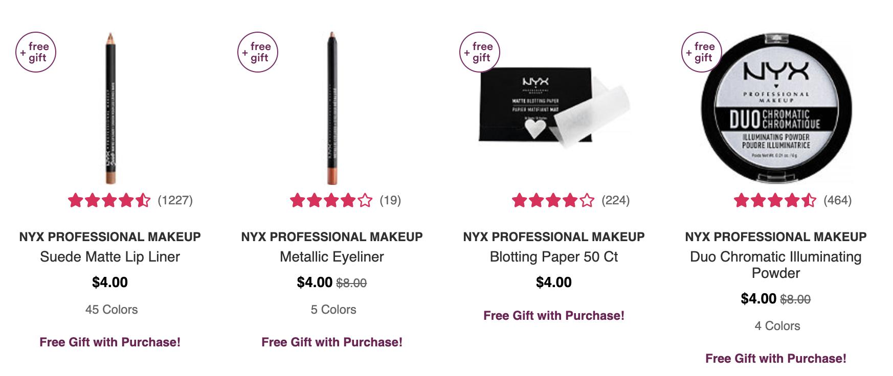 Ulta 5X pts It Cosmetics + Free shipping all NYX + MORE