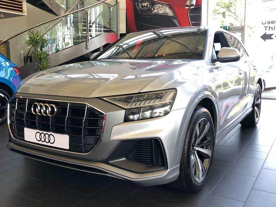 Audi Q8 S Line In Floret Silver Now In The Stoke Audi Showroom