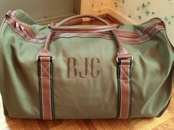 b7fe185165e Personalized Duffle Bag - Monogrammed Overnight Bag - Duffle Bag for Men - Men s  Luggage - Travel Ba
