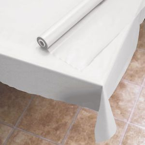 Biodegradable Plastic 300 Ft White Banquet Tablecloth Roll Eco Friendly Table Covers White Table Cloth Table Cloth