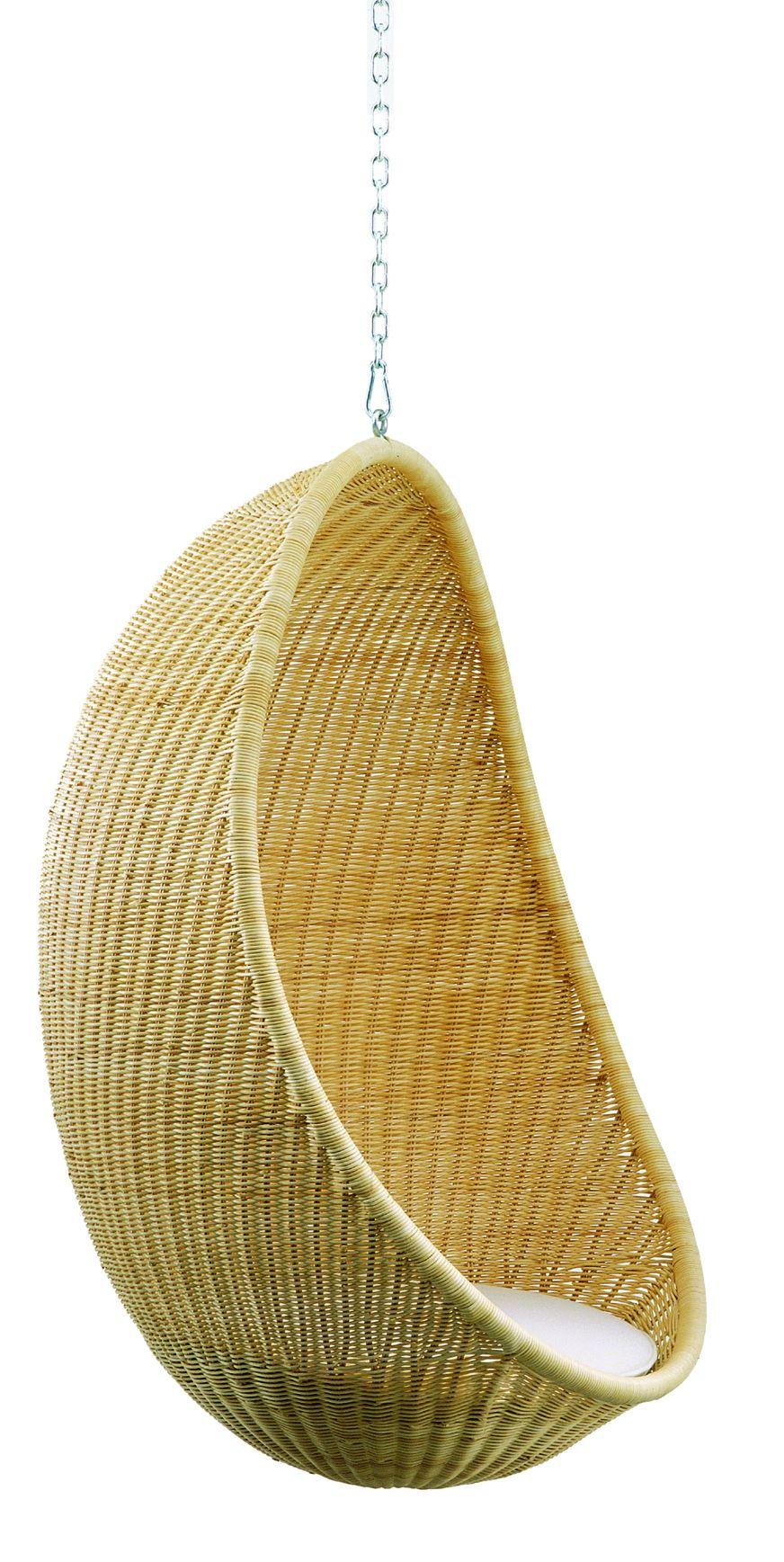 Bonacina Hanging Egg Chair, designed by Nanna and Jørgen