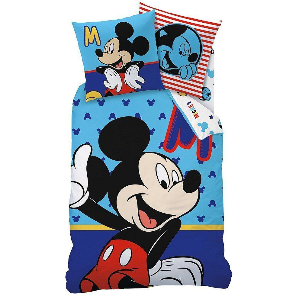 Linon Kinder Bettwäsche Mickey Mouse Motiv Sitting 135 X 200 Cm