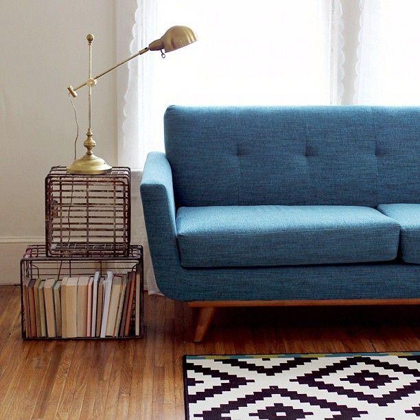 Monocromático con azul...excelente combinación