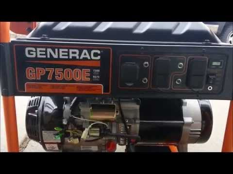 Generac Gp7500e 7500 Watt Electric Start Portable Generator in 2020 |  Portable power generator, Portable generator, Gas powered generatorPinterest