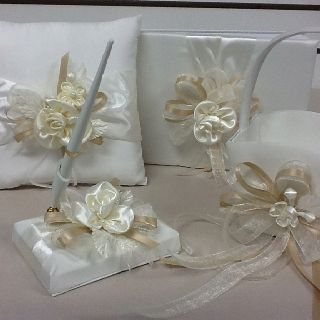 Wedding accessories. Guest book ring pillow pen set. Custom made from letsdancegarters.com