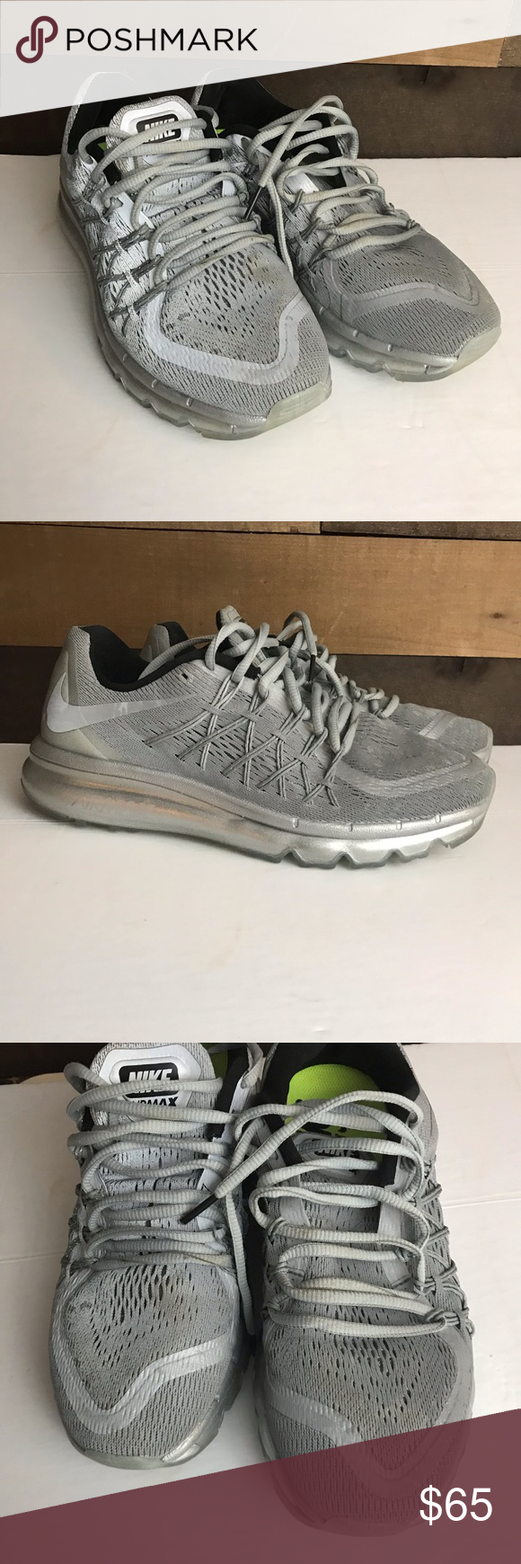 timeless design b5e62 b2058 Nike Air Max 2015 3m reflective women s shoes 9 Nike Air Max 2015  Reflective Silver 3M 709014 001 Women s 9 Running Shoes. Condition is  Pre-owned.
