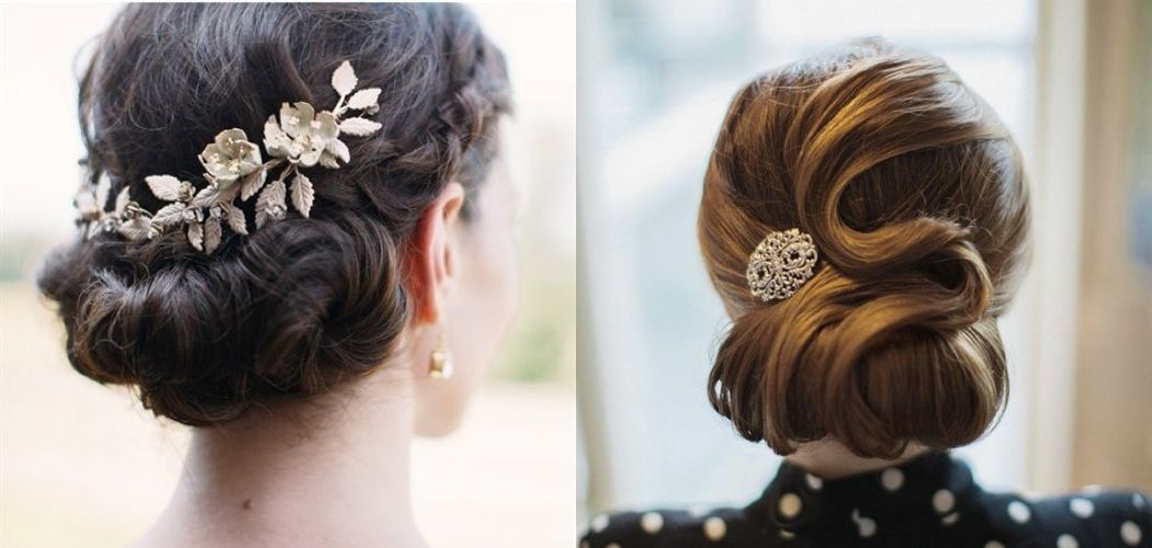 We adore these wedding hairstyles because they are made even more beautiful with a gorgeous accessory!