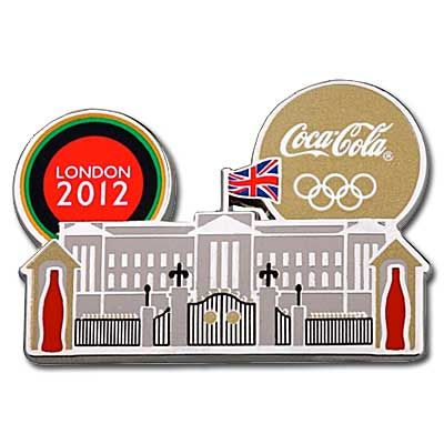 London Olympic Coca-Cola Pin - Landmark Buckingham Palace - These are the coolest Olympic pins straight from London Olympic Park