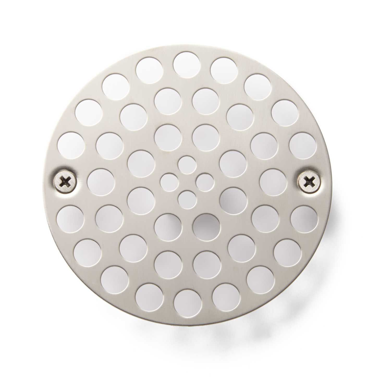 Modern Shower Drain Strainer Brushed Nickel Shower Drain