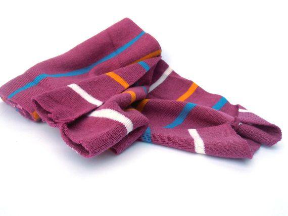 Purple striped scarf sleeve scarf wrap top by BestOffersBoutique